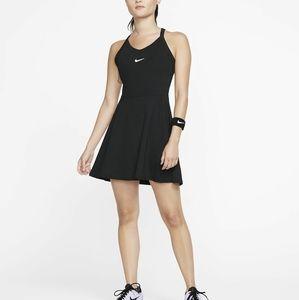 NIKE DRY DRI-FIT WOMENS BLACK SMALL TENNIS DRESS
